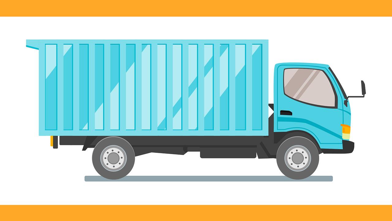 配達業者のトラック