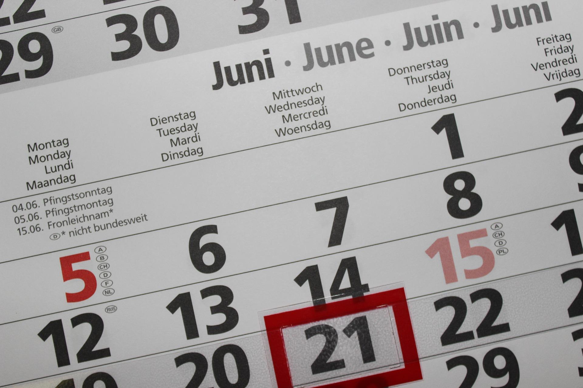 返金タイミングがわかるカレンダー