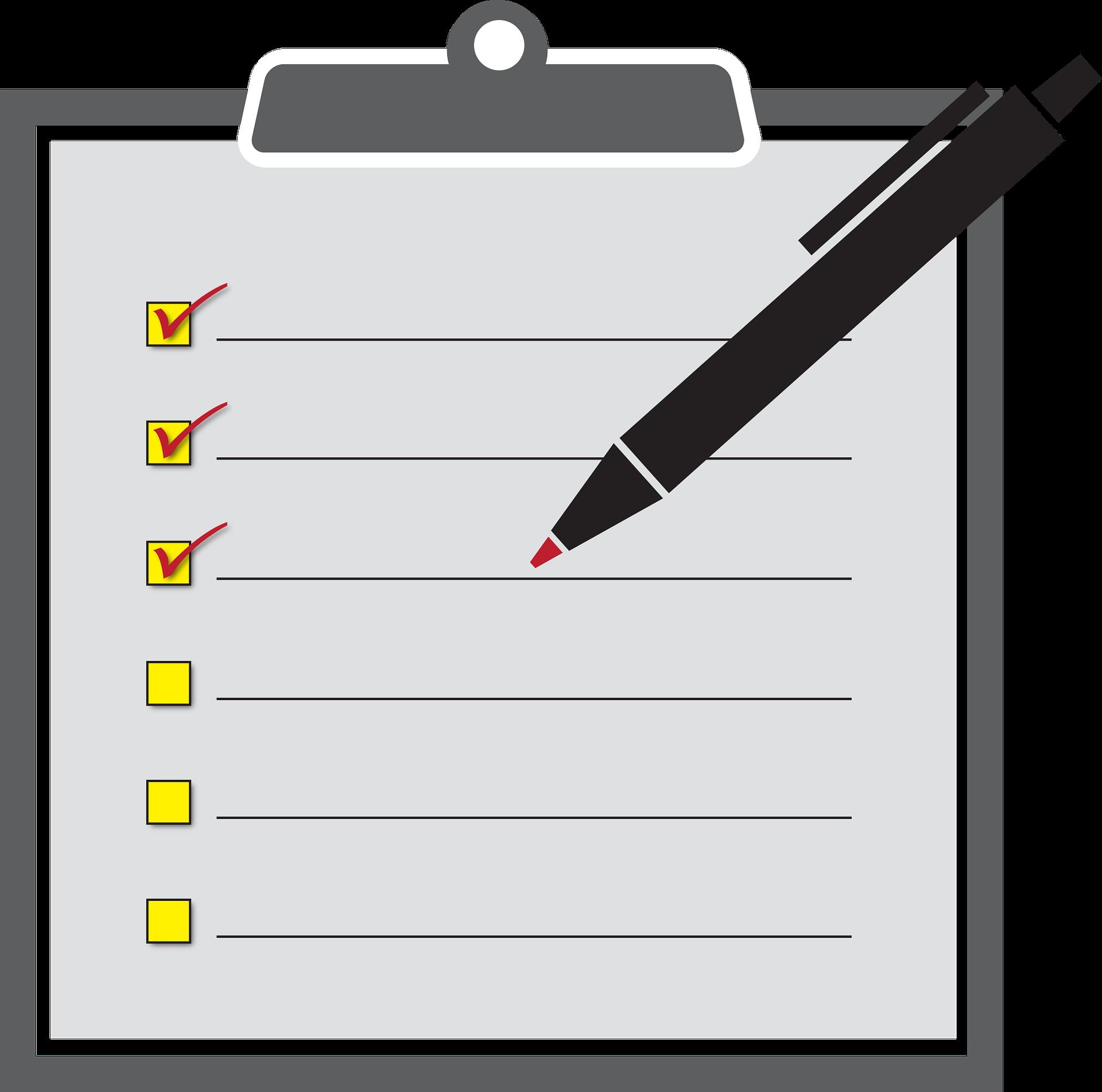 宅配買取のチェック表