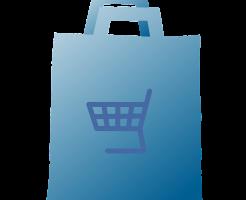 ビニール袋のショッピングバッグ